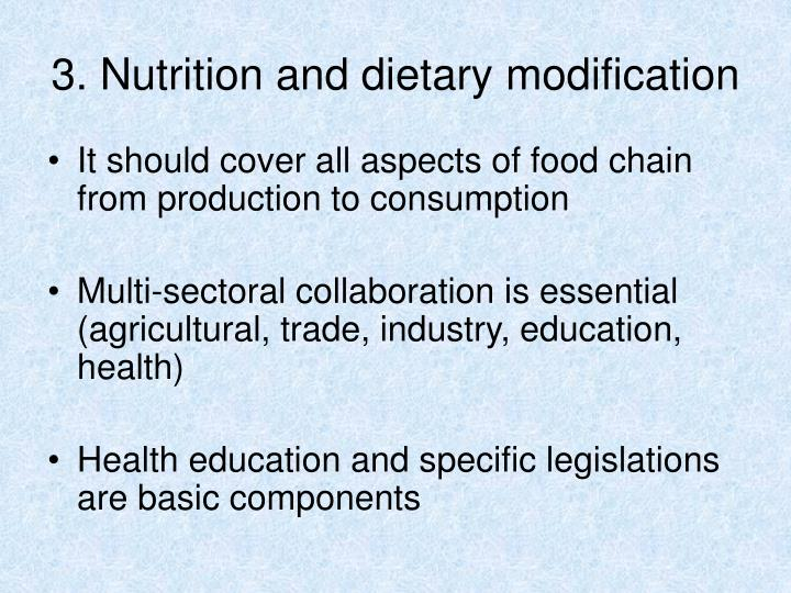3. Nutrition and dietary modification