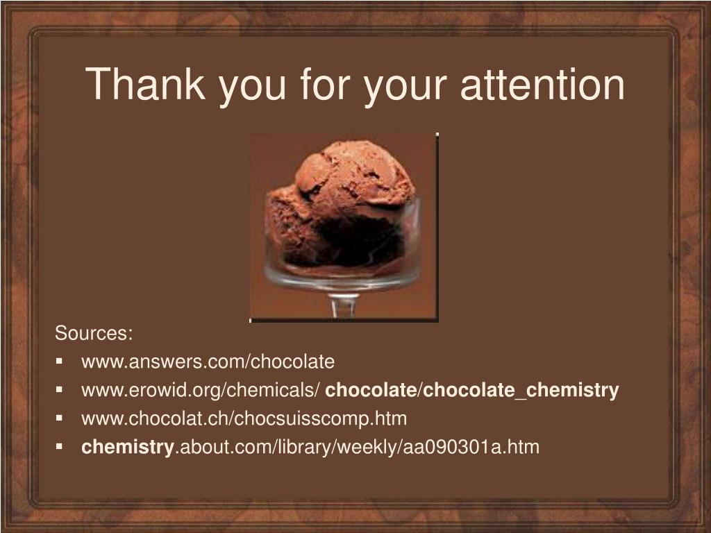 PPT - Chemistry of chocolate PowerPoint Presentation - ID