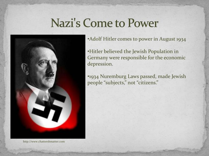 Nazi s come to power