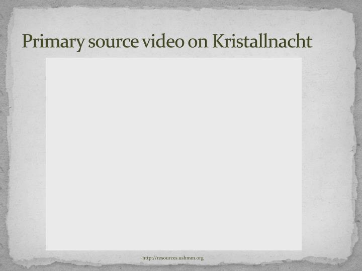Primary source video on