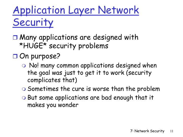 Application Layer Network Security