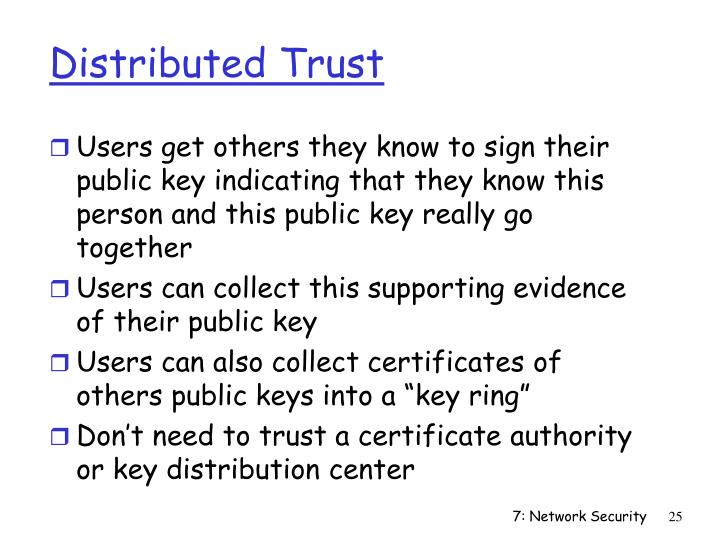 Distributed Trust