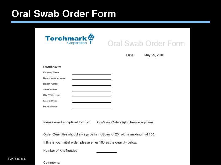 Oral Swab Order Form