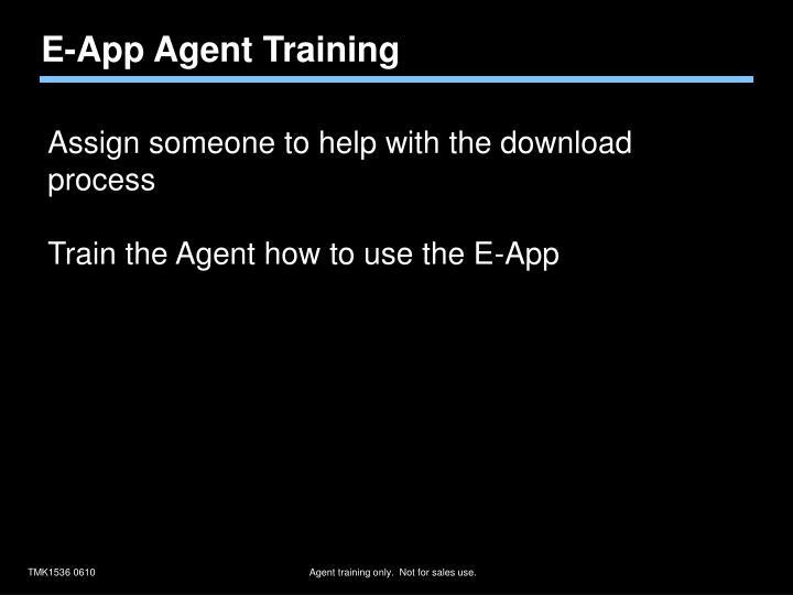 E-App Agent Training