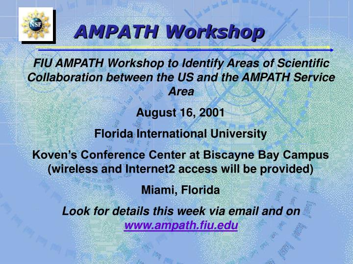 AMPATH Workshop