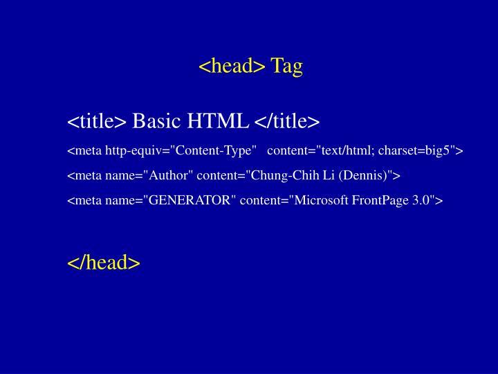 <head> Tag