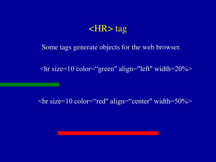 <HR> tag