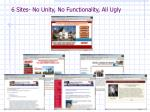 6 sites no unity no functionality all ugly