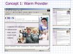concept 1 warm provider