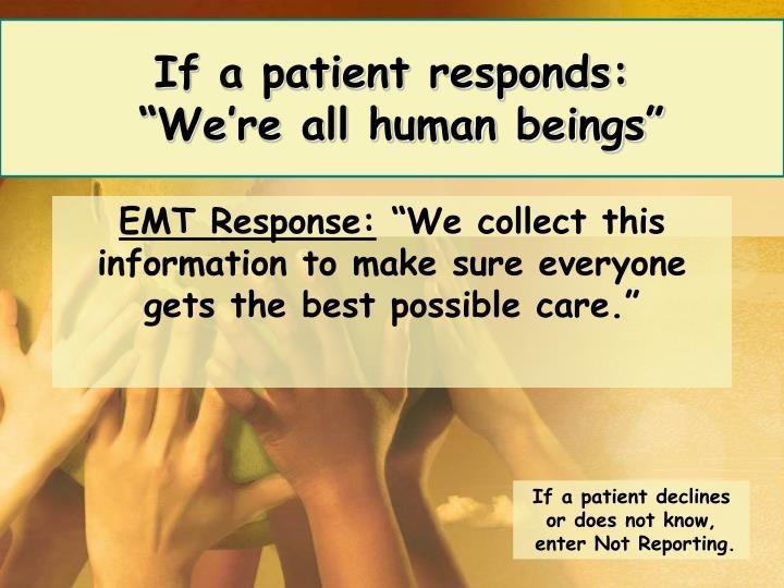 If a patient responds: