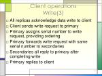 client operations write 3