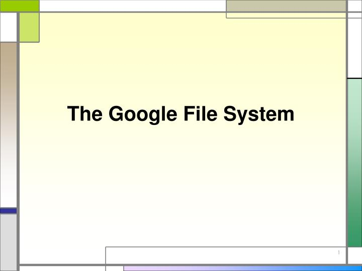 the google file system n.