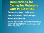 implications for caring for veterans with ptsd at eol1