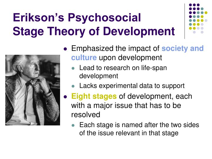 erikson eriksons psychosocial human development theory essay Erik erikson theory essays discuss the the ego in human development and believed that - erik erikson's theory of psychosocial development in humans.