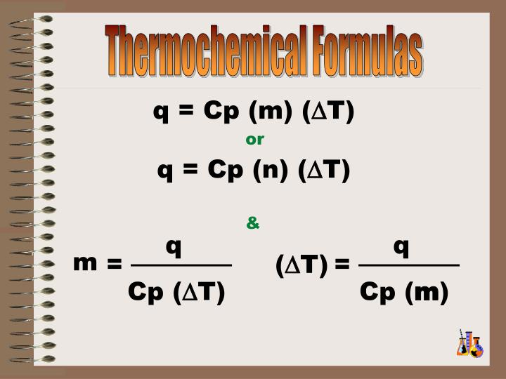 Thermochemical Formulas