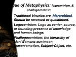critique of metaphysics logocentrism phallogocentrism