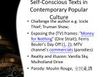 self conscious texts in contemporary popular culture