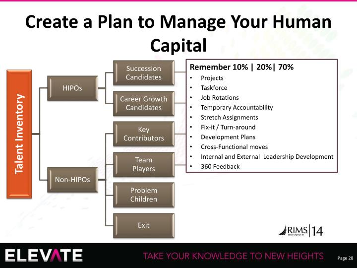 Create a Plan to Manage Your Human Capital