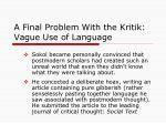 a final problem with the kritik vague use of language2