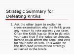 strategic summary for defeating kritiks1