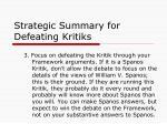 strategic summary for defeating kritiks2