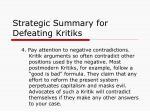 strategic summary for defeating kritiks3