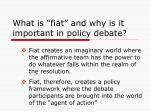 what is fiat and why is it important in policy debate1