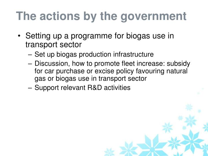 The actions by the government