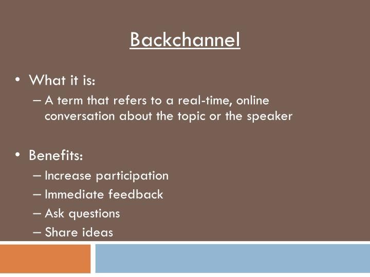 Backchannel