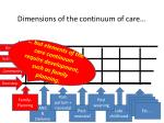 dimensions of the continuum of care2