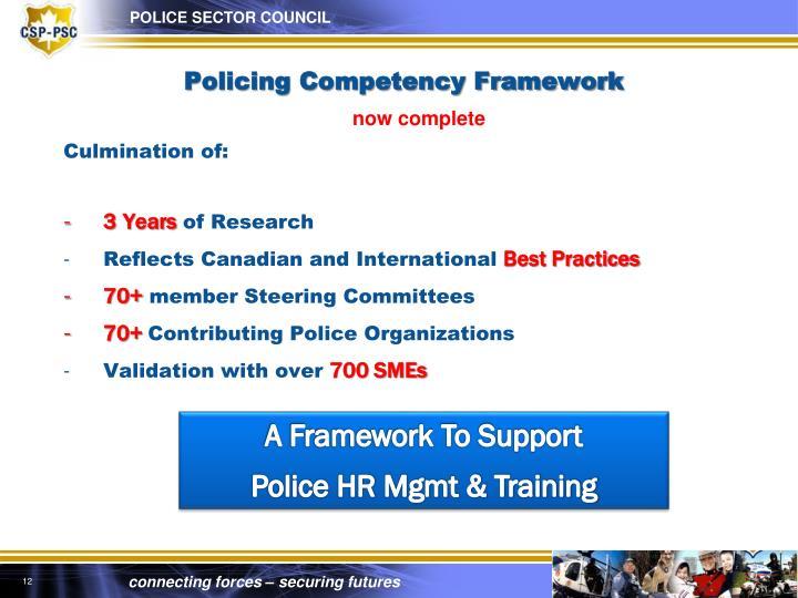 Policing Competency Framework