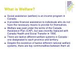 what is welfare