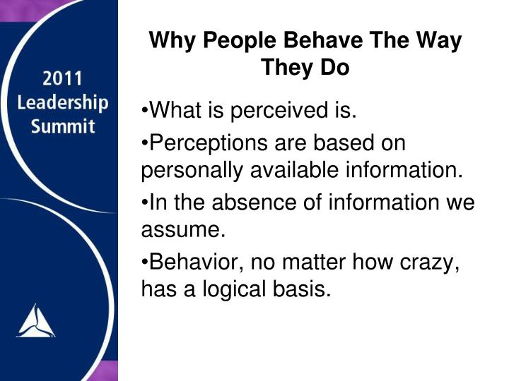 Why People Behave The Way They Do