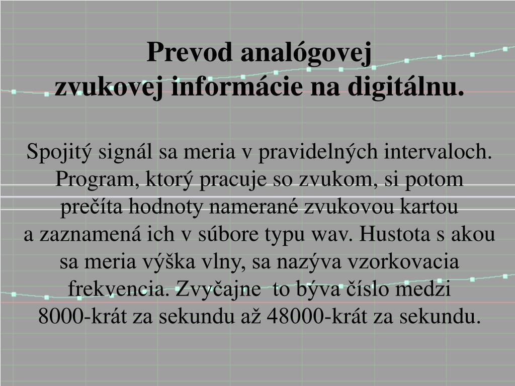 Ppt Digitalizãcia Zvuku Powerpoint Presentation Id3983904