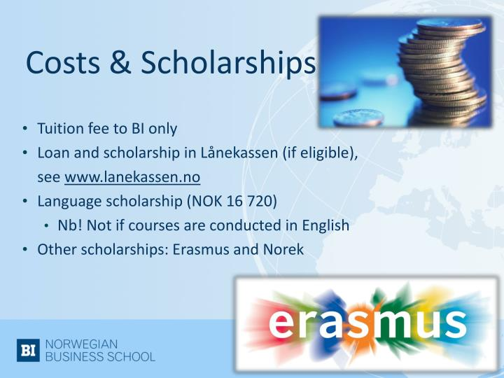 Costs & Scholarships
