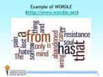 example of wordle http www wordle net