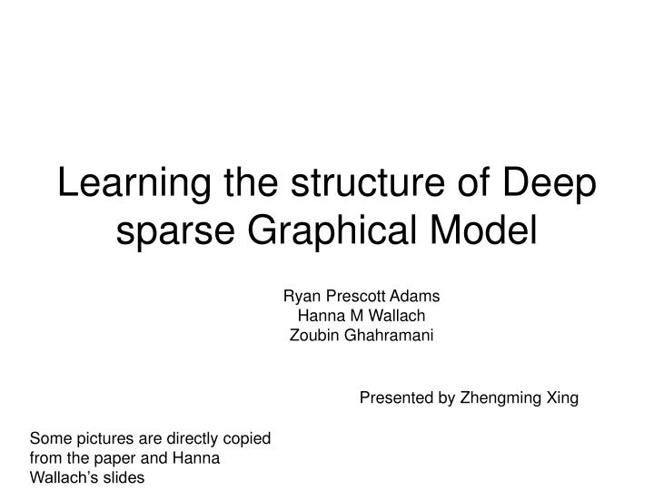 learning the structure of deep sparse graphical model n.