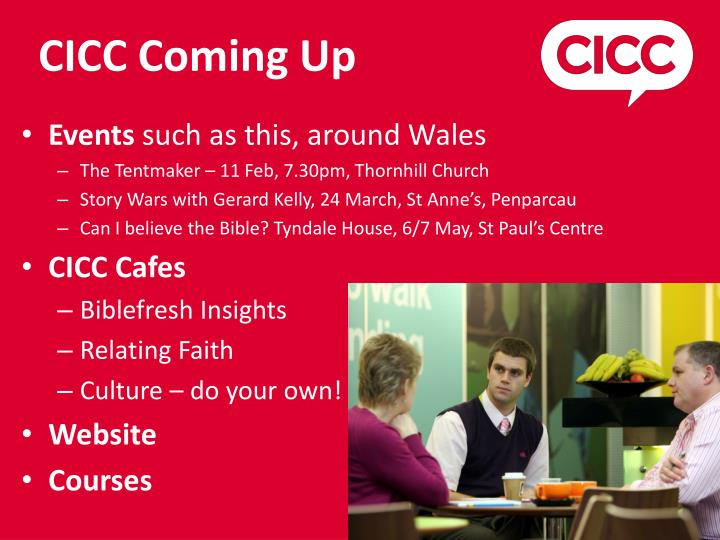 CICC Coming Up