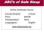 abc s of safe sleep
