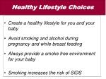healthy lifestyle choices