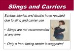 slings and carriers