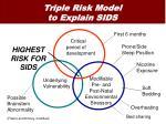 triple risk model to explain sids