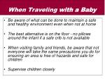when traveling with a baby