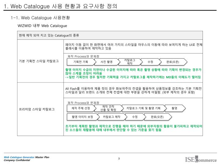 1. Web Catalogue