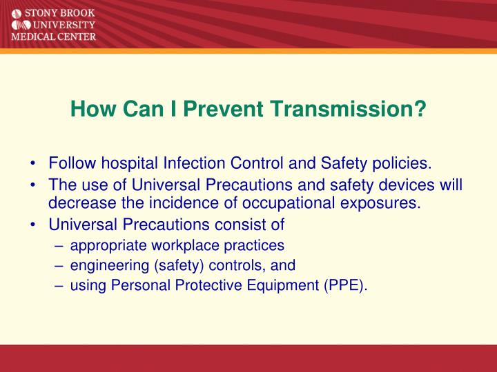 How Can I Prevent Transmission?