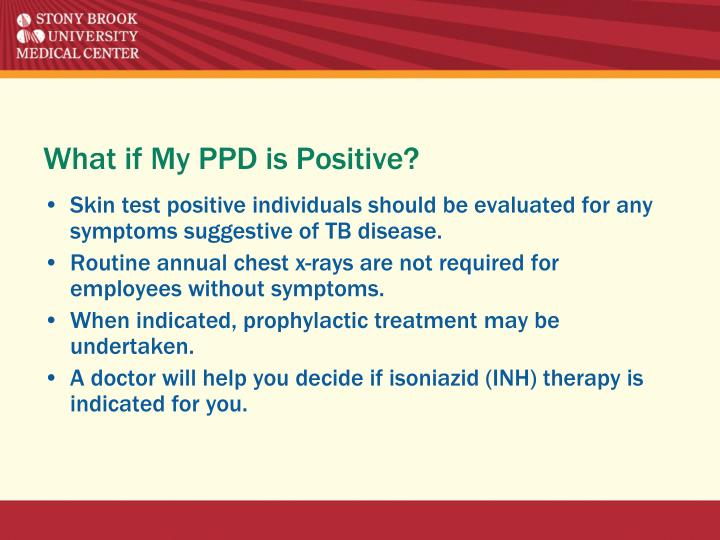 What if My PPD is Positive?