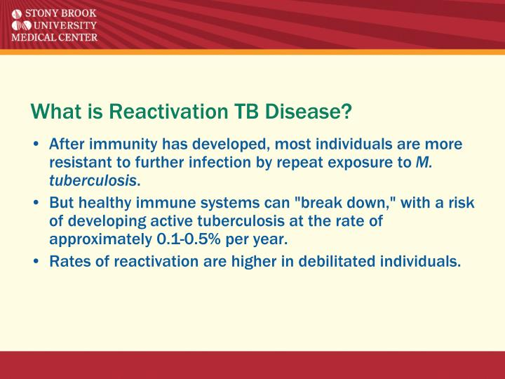 What is Reactivation TB Disease?