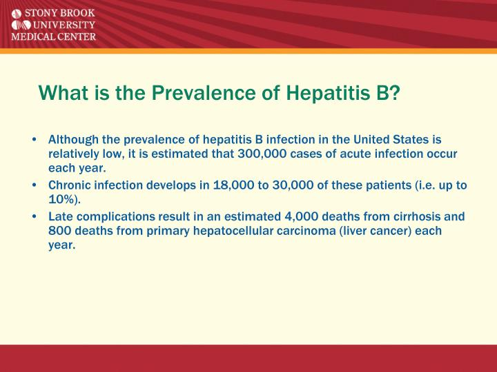 What is the Prevalence of Hepatitis B?