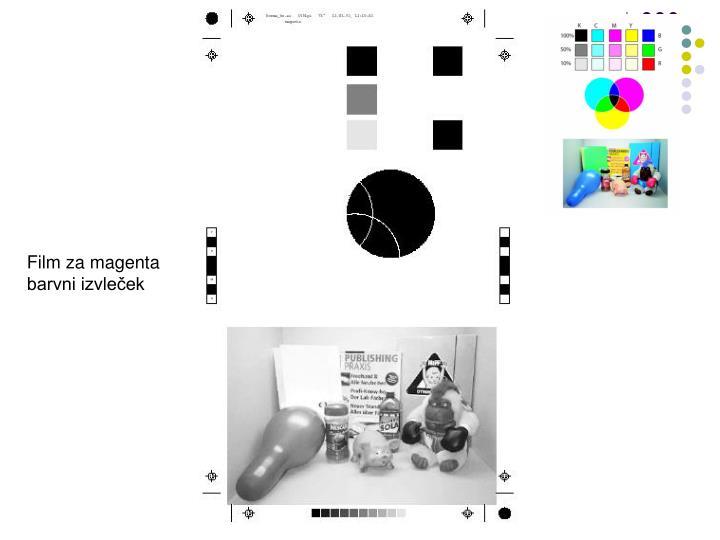 Film za magenta barvni izvleček
