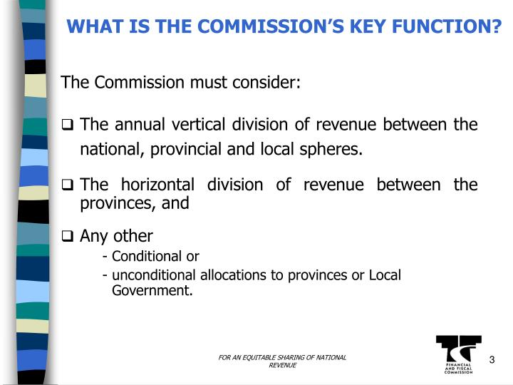 What is the commission s key function